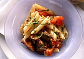 Penne with Chicken Liver and Tomato