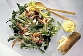 Mixed Greens Salad with Shrimp; Bread