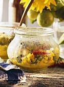 Essiggemüse Acar (eingelegtes Gemüse mit exotischen Gewürzen)