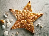 Original cake: apricot star fish with sesame