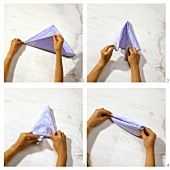 Step-by-step guide to folding a napkin boat