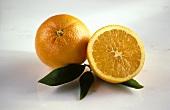 Whole Orange with Half an Orange