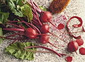 Red Beets with Greens