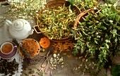 Für Tee: Kamille,Minze,Lindenblüten,Ringelblume,Frauenmantel