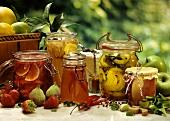 Preserves: jams, jelly, asparagus & turmeric gherkins