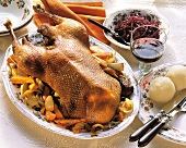 Whole Roasted Goose for Christmas