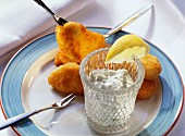 Fried Fish Nuggets with Tartar Sauce