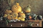 Squash and Pumpkins; Gourds Still Life
