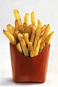 French Fries in a Red Cardboard Container