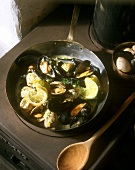 Marinated mussels and clams in white wine (from Ireland)