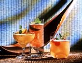 Three refreshing cocktails