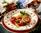 Chicken breast fillets with cranberry sauce