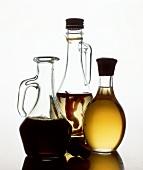 Aceto Balsamico (Essig), Pfefferöl & Olivenöl in Flaschen