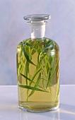 Tarragon Vinegar in a Glass Decanter