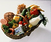 Fresh Groceries in a Basket