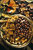 Chestnuts on a Brass Plate
