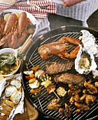 Barbecue with Several Assorted Foods