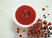 Red berry compote with mixed berries