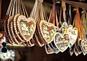 Gingerbread Hearts at a Stall at the May Fair