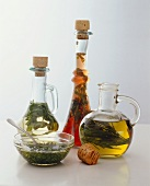 Three Herb Vinegars in Bottles