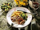 Venison medallions with potato noodles & brussels sprouts