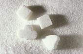 Four Assorted Sugar Cubes on Sugar