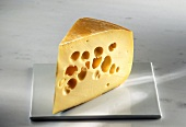 A Wedge of Emmenthal Cheese