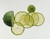 A Lime Partially Sliced