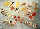 Assorted Frozen Ice Cream Desserts