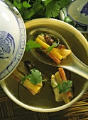 Chinese Wrapped Vegetable Soup