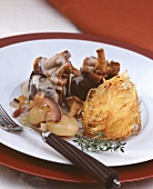 Venison medallions with chanterelles & potato rosti