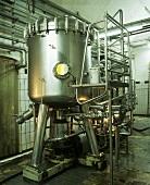 Modern beer filtration plant in Freistädter Brewery (Austria)