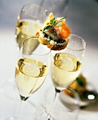 Lox Appetizer with Wine