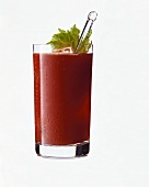 Bloody Mary with Bacardi rum, garnished with celery