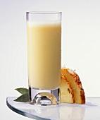 Pineapple milk shake in a glass