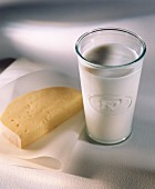 A Glass of Milk and a Slice of Tilsit Cheese