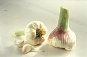 Two Garlic Bulbs with Two Garlic Cloves