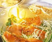 Salmon Carpaccio with Frisee