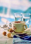 Mug of Capuccino with Cinnamon
