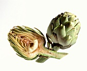 Half an Artichoke with a Whole Artichoke