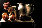 Still Life with Fruit and Silver Pitcher