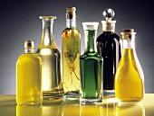 Assorted Vinegar and Oils in Decorative Bottles