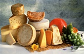 Still Life of Assorted Hard Cheese