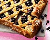 Tray-baked blueberry cake