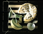 Still Life with Greek Cheese and Fruit
