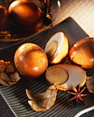 Hundred-year-old eggs (Chinese preserved eggs)