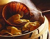Steaming Vegetable Dumplings