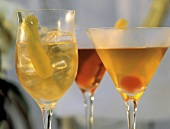 Drinks: Aperol frizzante, Campari Shakerato, Manhattan-Sweet