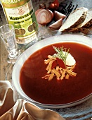 Russian Red Beet Soup with Beef