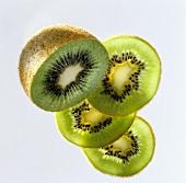 A Kiwi Half with Kiwi Slices